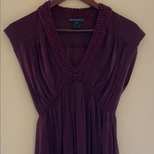 FRENCH CONNECTION Burgundy Sleeveless Dress